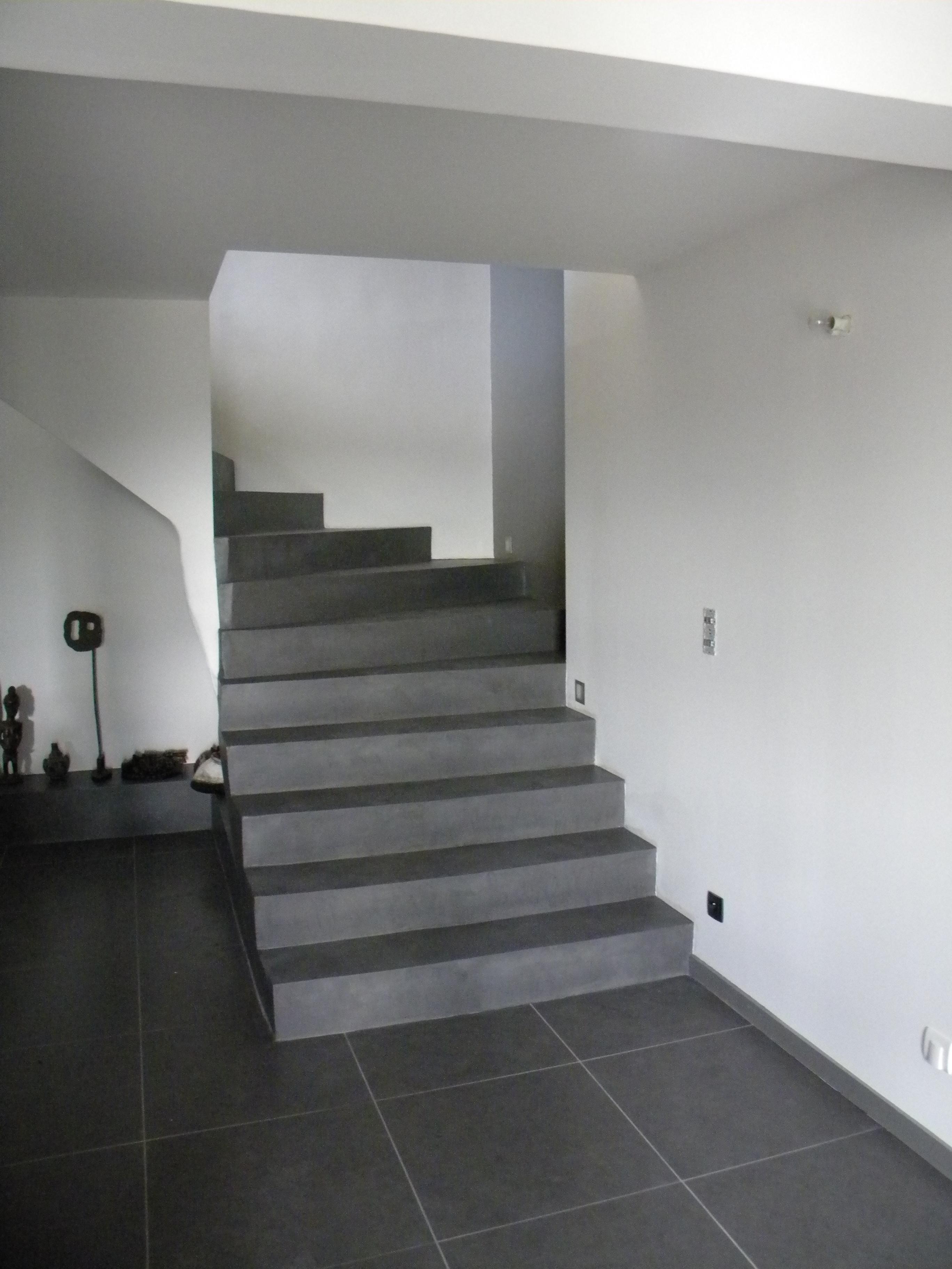 sch ne beton cire treppe bilder erindzain. Black Bedroom Furniture Sets. Home Design Ideas